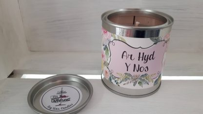 Ar Hyd Y Nos candle. Peony, jasmine and vanilla candle. Vegan candle. Welsh candle. Soy candle. Gift Candle. Handmade in Wales, UK