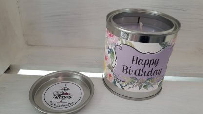Happy Birthday candle. Cake scented. Vegan candle. Welsh candle. Soy wax candle. Happy Birthday. Gift Candle. Handmade in Wales, UK