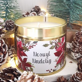 Welsh Christmas candle