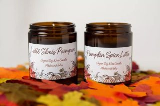 The weather outside is frightful but I'm warm and cosy in the candle kitchen making lots of wonderful things so it's not too bad.  The website launch for Christmas is going to be delayed by a few days but there are a few pumpkin spice latte candles left to help you get that cosy feel in the meantime. #psl #pumpkinspicelatte #johnoliver #lastweektonight #starbucks #costa #autumnfeels #amberglass #autumncandles #candlesofinstagram #candlesfordesks #workfromhome